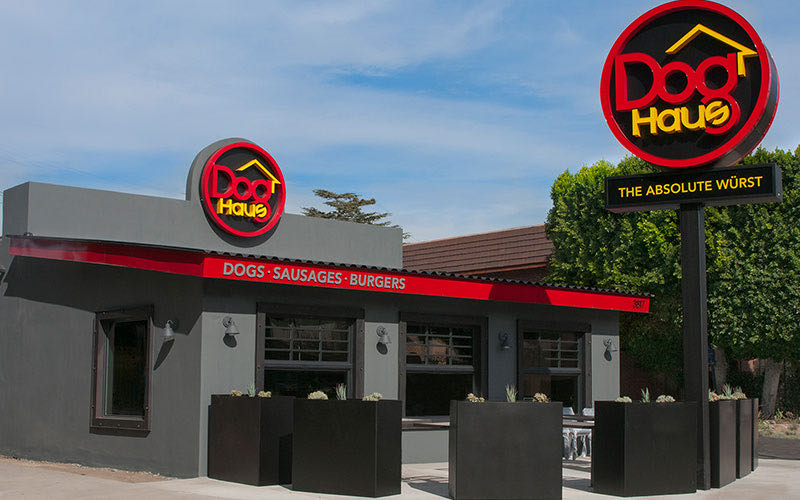 Exterior view of Dog Haus Burbank